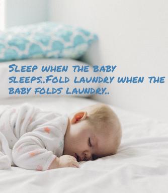 sleep when the baby sleeps